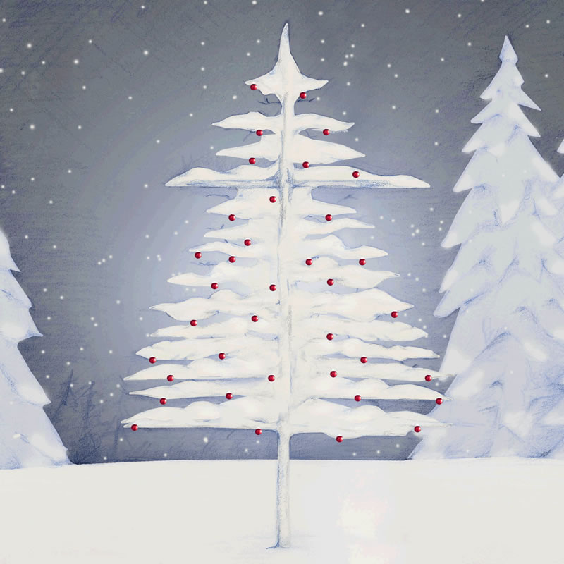 Christmas Tree sketch by Erin Shamblin