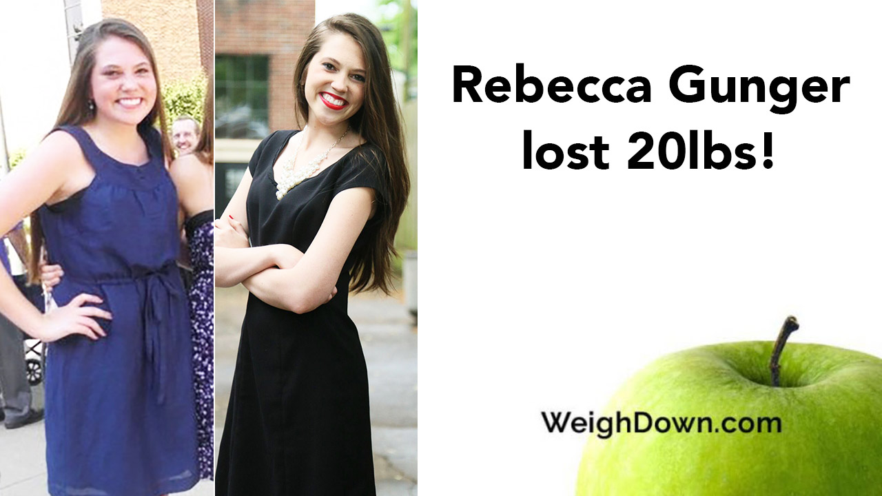 Weigh Down Before & After Rebecca Gunger