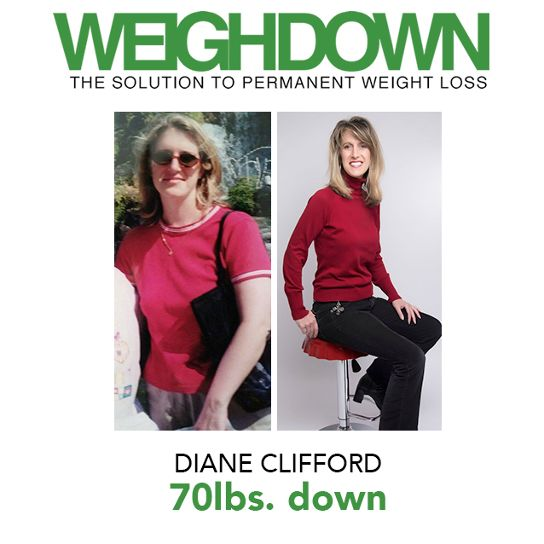 Weigh-Down Before After Diane Clifford