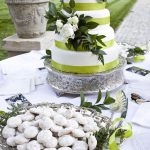 Wedding Colors are Black, White, and Green