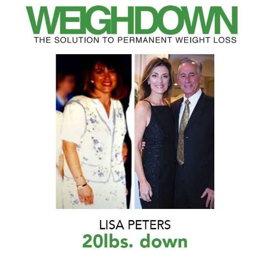 Weigh Down Before After Lisa Peters