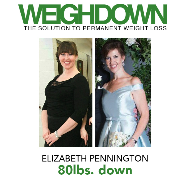 Weigh Down Before & After Elizabeth Pennington