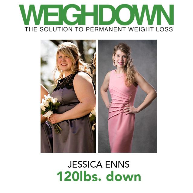 Weigh Down Before & After Jessica Enns