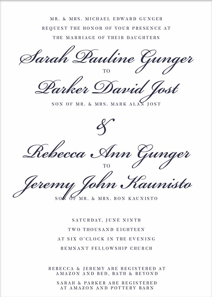 Remnant-Fellowship-Gunger-Double-Wedding-Invitation