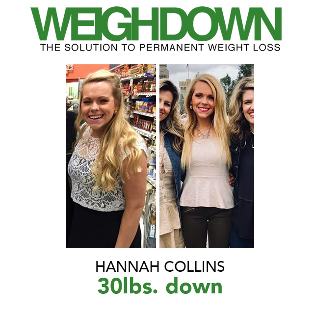 Weigh Down Before & After Hannah Collins