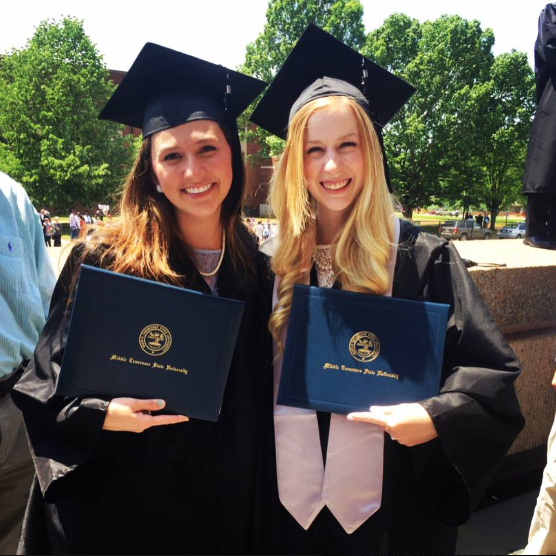 Sarah Gunger with fellow Remnant Fellowship college graduate, Allyson Ancona