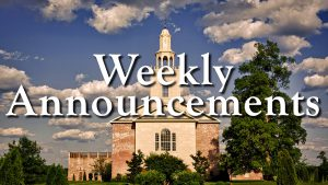 Remnant Fellowship Church Weekly Announcements