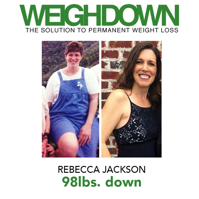 Weigh Down Before & After Rebecca Jackson